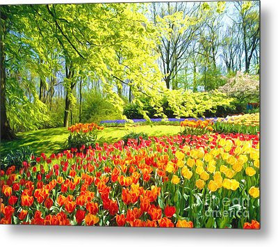 Spring Garden Metal Print