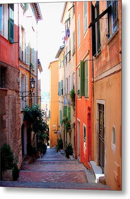 Streets Of Villefranche  Metal Print by Julie Palencia