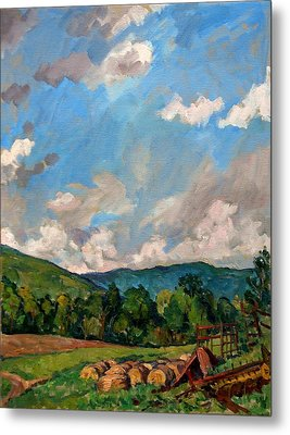 Summer Farm Berkshires Metal Print by Thor Wickstrom