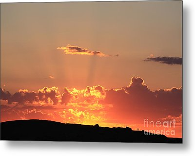 Metal Print featuring the photograph  Sunset by Edward R Wisell
