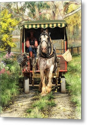 Metal Print featuring the digital art  Take Me Home Country Road by Trudi Simmonds