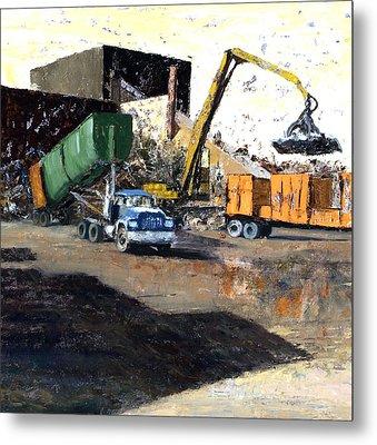 The Blue Truck Metal Print by Nancy Albrecht