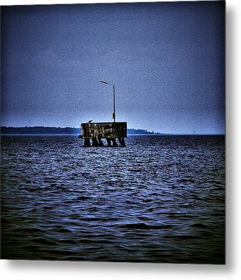 Metal Print featuring the photograph  The Dock Of Loneliness by Jouko Lehto