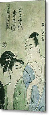 The Lovers Ochiyo And Handei  Metal Print by Carrie Jackson