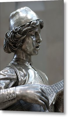 The Lute Player Metal Print by Carl Purcell