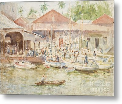 The Market Belize British Honduras Metal Print by Henry Scott Tuke