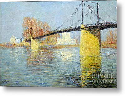 The Suspension Bridge Has Trielsurseine Metal Print