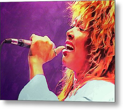 Tina Turner Metal Print