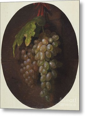 Title Grapes Rome Metal Print
