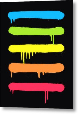 Trendy Cool Graffiti Tag Lines Metal Print