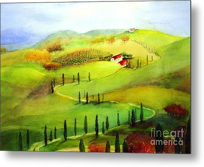 Tuscany Metal Print by Maryann Schigur