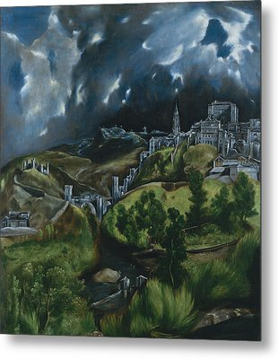 View Of Toledo Metal Print