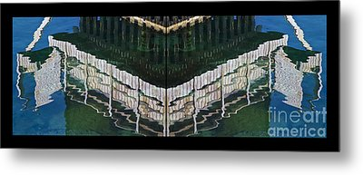 Water Reflection Twofold Metal Print by Heiko Koehrer-Wagner