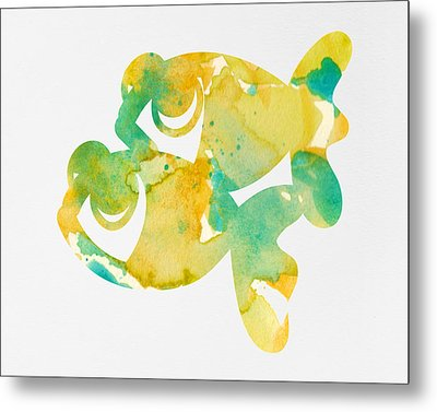 Watercolor Painting For Nurseries - Twins Metal Print
