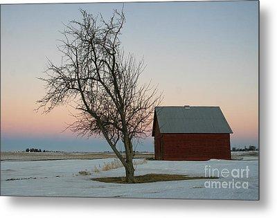 Winter In Rural America Metal Print