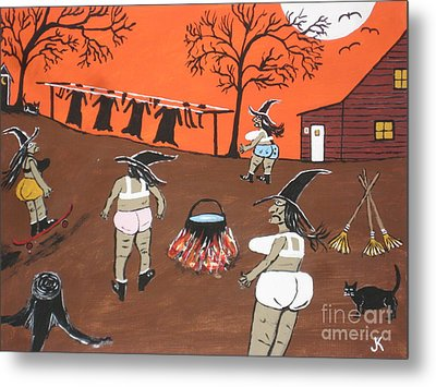 Witches Wash Day Metal Print