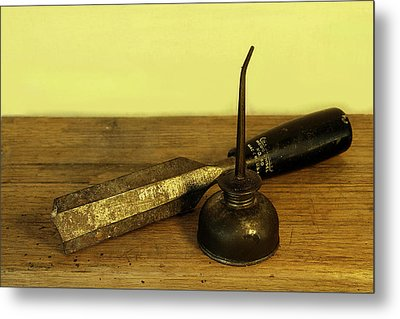 Metal Print featuring the photograph  Wood Chisel No.40. by Viktor Savchenko