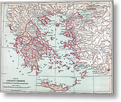Map: Ancient Greece Metal Print by Granger
