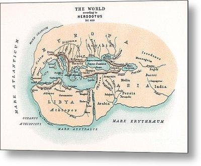 World Map Metal Print by Granger