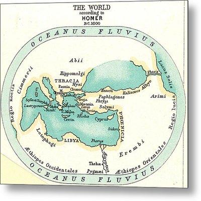 World Map, C1000 B.c Metal Print by Granger