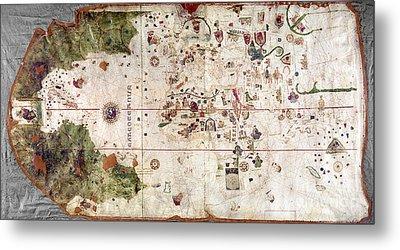 Nina: World Map, 1500 Metal Print by Granger