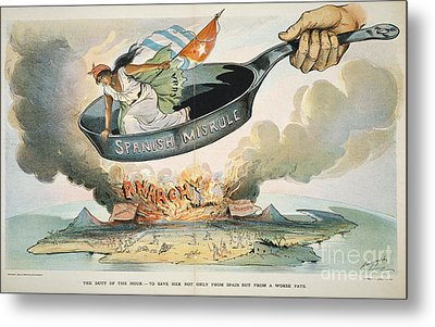Spanish-american War, 1898 Metal Print by Granger