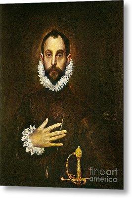 El Greco: Gentleman Metal Print by Granger