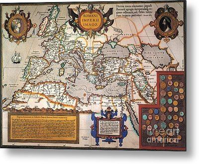 Map Of The Roman Empire Metal Print by Granger