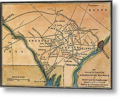 Underground Railroad Map Metal Print by Granger