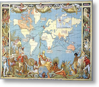 Map: British Empire, 1886 Metal Print by Granger