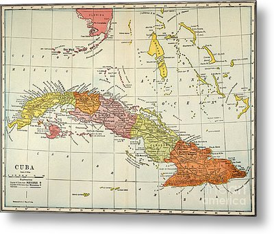 Map: Cuba, 1900 Metal Print by Granger