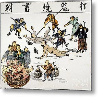 China: Anti-west Cartoon Metal Print by Granger