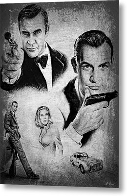 007 Connery Metal Print