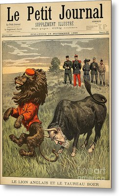 Boer War Cartoon, 1899 Metal Print by Granger