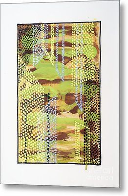 01329 Slip Metal Print by AnneKarin Glass