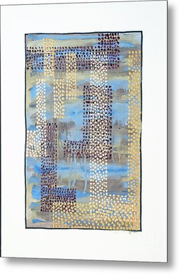 01334 Over Metal Print by AnneKarin Glass