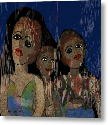 025 - Three  Young Girls   Metal Print