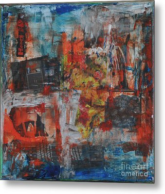 027 Abstract Thought Metal Print