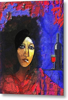 032 - Marie In The Morning  Metal Print by Irmgard Schoendorf Welch