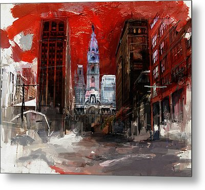 081 Parade On South Broad Street Metal Print by Maryam Mughal