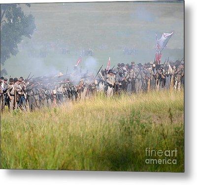 Gettysburg Confederate Infantry 7503c Metal Print