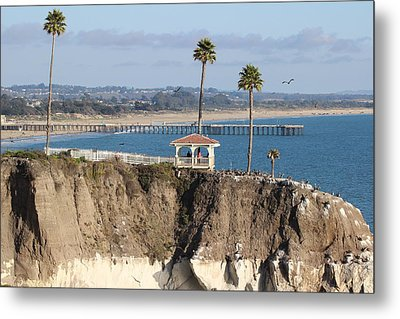 Pismo Beach Gazebo And Pier Metal Print