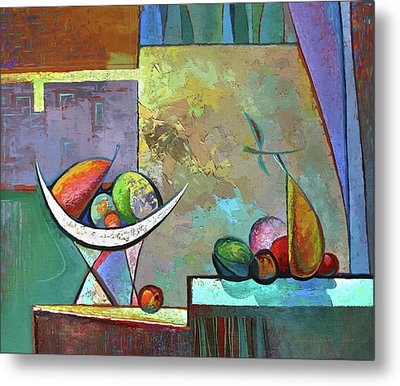 Still Life With Frutit Metal Print by Alexey Kvaratskheliya