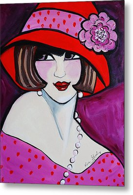 1920's Girl Ella Metal Print by Nora Shepley