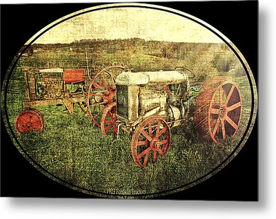 Vintage 1923 Fordson Tractors Metal Print by Mark Allen