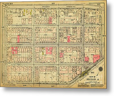 Metal Print featuring the photograph 1927 Inwood Map  by Cole Thompson