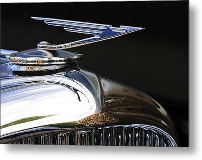 1929 Duesenberg Model J Hood Ornament Metal Print by Jill Reger