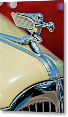 1940 Packard Hood Ornament Metal Print by Jill Reger
