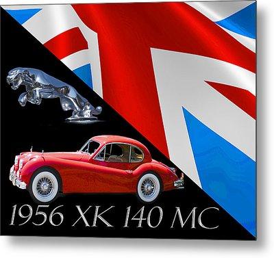 1956 Jaguar X K 140 M C Metal Print by Jack Pumphrey