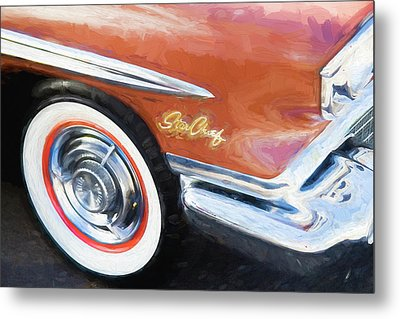 Metal Print featuring the photograph 1958 Pontiac Star Chief  by Rich Franco